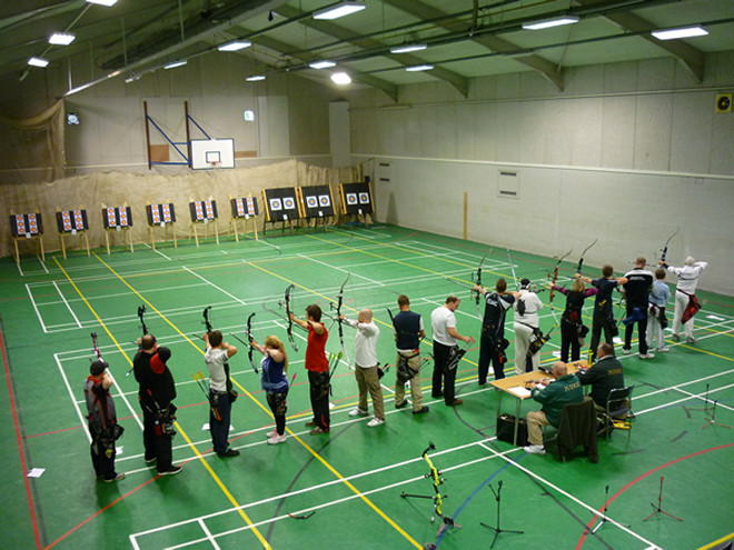 The Shooting Line during Session B of the 4th Brighton Bowmen FITA 18 Tournament