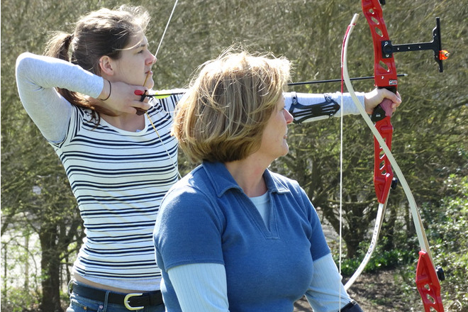 Archery Beginner's Course at Brighton Bowmen, April 2015