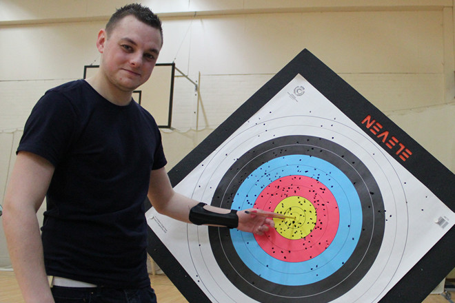 Archery Beginners Course at Brighton Bowmen in January 2015
