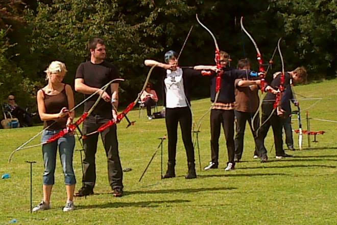 Archery Beginners Course at Brighton Bowmen, August 2014