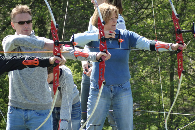 Archery Beginner's Courses at Brighton Bowmen, May 2015